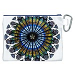 Rose Window Strasbourg Cathedral Canvas Cosmetic Bag (XXL) Back