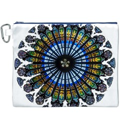 Rose Window Strasbourg Cathedral Canvas Cosmetic Bag (XXXL)