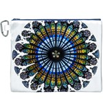 Rose Window Strasbourg Cathedral Canvas Cosmetic Bag (XXXL) Front