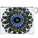 Rose Window Strasbourg Cathedral Canvas Cosmetic Bag (XXXL) Back