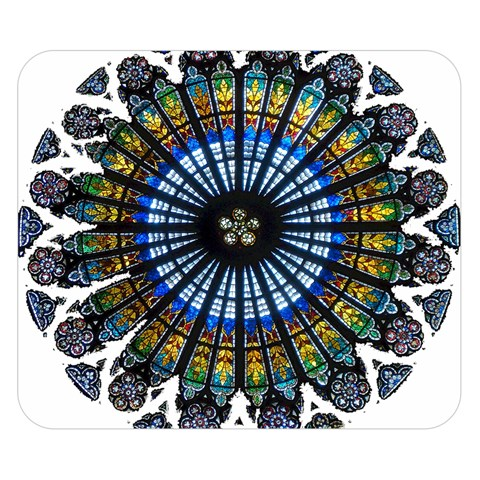 Rose Window Strasbourg Cathedral Double Sided Flano Blanket (Small)