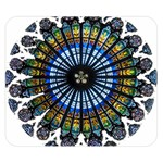 Rose Window Strasbourg Cathedral Double Sided Flano Blanket (Small)  50 x40 Blanket Back