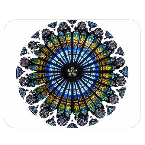 Rose Window Strasbourg Cathedral Double Sided Flano Blanket (Medium)
