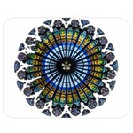 Rose Window Strasbourg Cathedral Double Sided Flano Blanket (Medium)  60 x50 Blanket Back