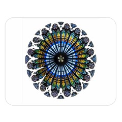 Rose Window Strasbourg Cathedral Double Sided Flano Blanket (Large)