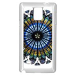 Rose Window Strasbourg Cathedral Samsung Galaxy Note 4 Case (White) Front