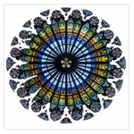 Rose Window Strasbourg Cathedral Large Satin Scarf (Square) Front