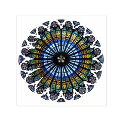 Rose Window Strasbourg Cathedral Small Satin Scarf (Square)