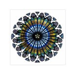Rose Window Strasbourg Cathedral Small Satin Scarf (Square) Front