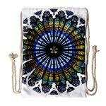 Rose Window Strasbourg Cathedral Drawstring Bag (Large) Front
