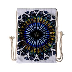 Rose Window Strasbourg Cathedral Drawstring Bag (Small)