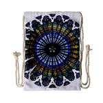 Rose Window Strasbourg Cathedral Drawstring Bag (Small) Back