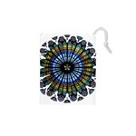 Rose Window Strasbourg Cathedral Drawstring Pouches (XS)  Front