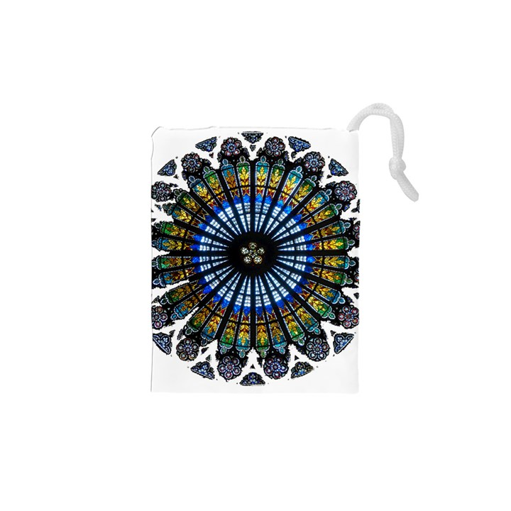 Rose Window Strasbourg Cathedral Drawstring Pouches (XS)