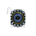 Rose Window Strasbourg Cathedral Drawstring Pouches (XS)  Back