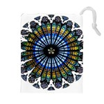 Rose Window Strasbourg Cathedral Drawstring Pouches (Extra Large) Front