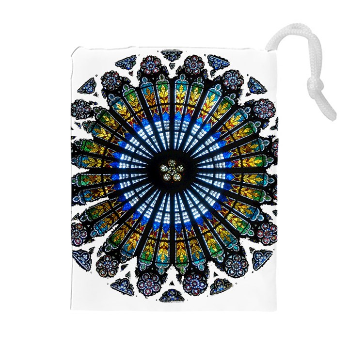 Rose Window Strasbourg Cathedral Drawstring Pouches (Extra Large)