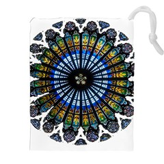 Rose Window Strasbourg Cathedral Drawstring Pouches (XXL)