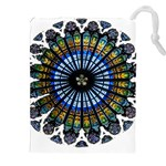 Rose Window Strasbourg Cathedral Drawstring Pouches (XXL) Front