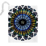Rose Window Strasbourg Cathedral Drawstring Pouches (XXL) Back