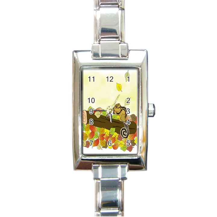 Squirrel  Rectangle Italian Charm Watch