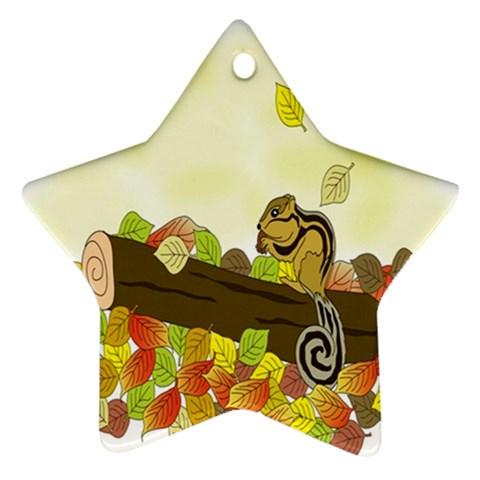 Squirrel  Ornament (Star)