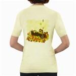 Squirrel  Women s Yellow T-Shirt Back