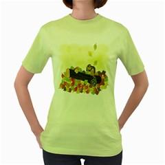 Squirrel  Women s Green T-Shirt
