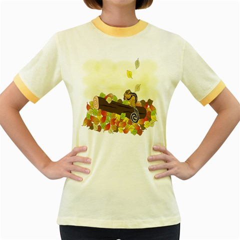 Squirrel  Women s Fitted Ringer T-Shirts