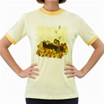 Squirrel  Women s Fitted Ringer T-Shirts Front