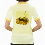 Squirrel  Women s Fitted Ringer T-Shirts Back