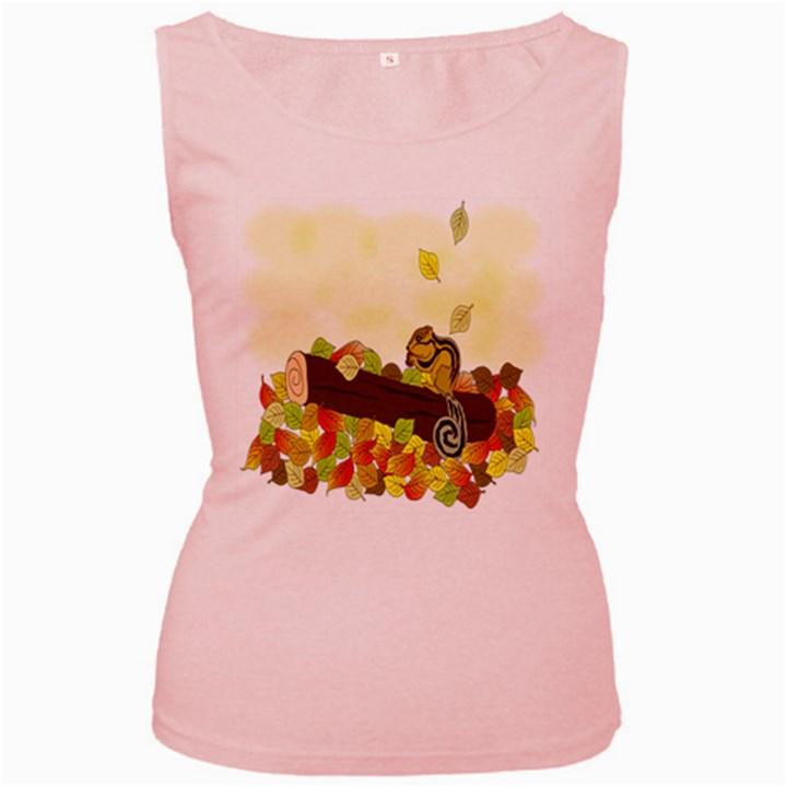Squirrel  Women s Pink Tank Top