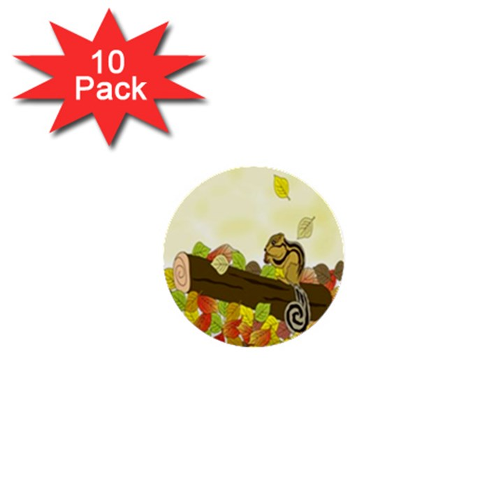 Squirrel  1  Mini Buttons (10 pack)