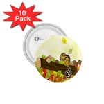 Squirrel  1.75  Buttons (10 pack) Front