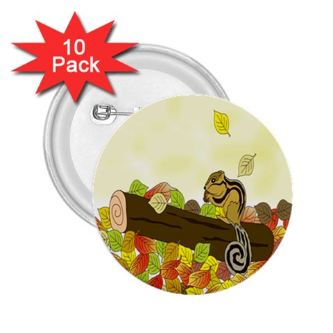 Squirrel  2.25  Buttons (10 pack)
