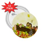 Squirrel  2.25  Buttons (10 pack)  Front