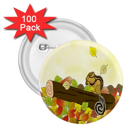 Squirrel  2.25  Buttons (100 pack)