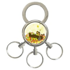 Squirrel  3-Ring Key Chains
