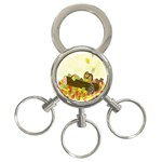 Squirrel  3-Ring Key Chains Front