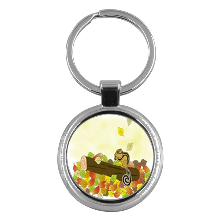 Squirrel  Key Chains (Round)