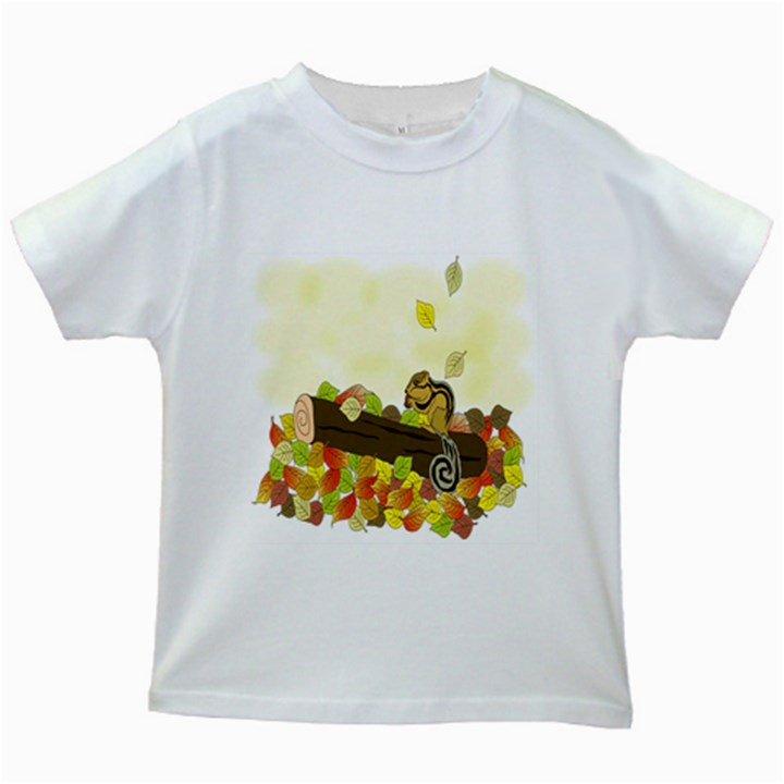 Squirrel  Kids White T-Shirts