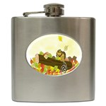 Squirrel  Hip Flask (6 oz) Front