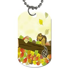 Squirrel  Dog Tag (Two Sides)