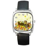 Squirrel  Square Metal Watch Front
