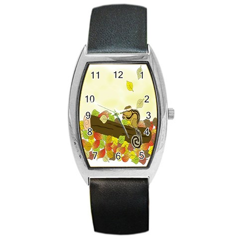 Squirrel  Barrel Style Metal Watch