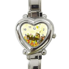 Squirrel  Heart Italian Charm Watch