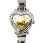 Squirrel  Heart Italian Charm Watch Front