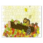 Squirrel  Rectangular Jigsaw Puzzl Front