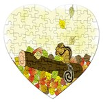 Squirrel  Jigsaw Puzzle (Heart) Front