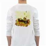 Squirrel  White Long Sleeve T-Shirts Back